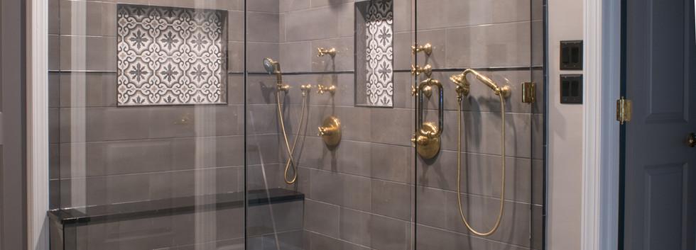 Sandy Springs home - master bath shower