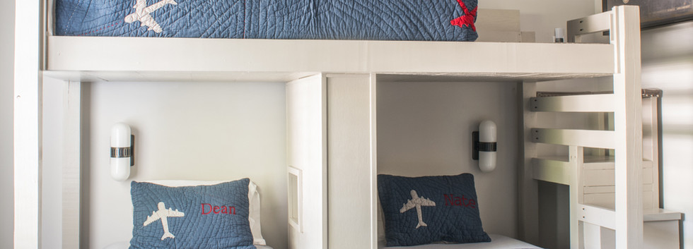 Sandy Springs home - little boys custom bunk rooom