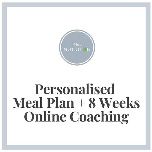 Personalised Meal Plan + 8 Weeks Online Coaching