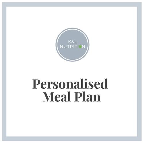 Personalised Meal Plan