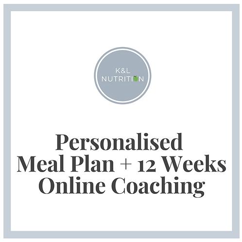 Personalised Meal Plan + 12 Weeks Online Coaching