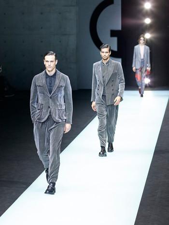 Giorgio Armani fashion show Milan Fashion Week Men february 2018
