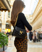 cardinalno time 9 quilted leather double chain shoulder bag gellery milano social media sharecampaign