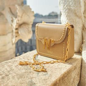 cardinalno First Date Chaplet embellished beige caviar leather bag duomo milano social media sharecampaign