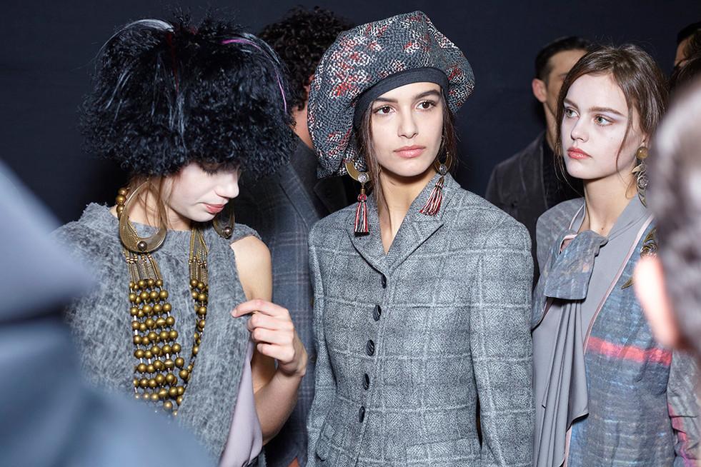 Giorgio Armani backstage Milan Fashion Week Woman Man february 2018
