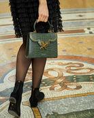 cardinalno First Lady Chaplet croc-embossed leather bag social media sharecampaign