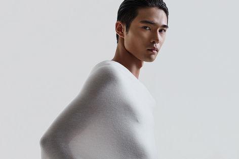 cariaggi filato cardato white oriental model studio campaign by sharecampaign