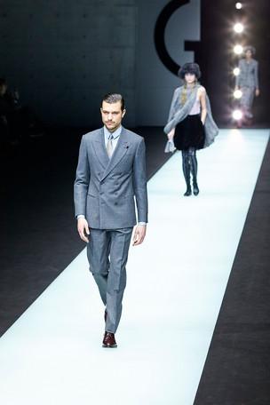 Giorgio Armani fashion show Milan Fashion Week Man february 2018
