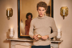 jkaishun campaign summer evening model curly sweater day lovely cashmere sharecampaign