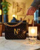 cardinalno time 9 quilted leather double chain shoulder_bag social media sharecampaign
