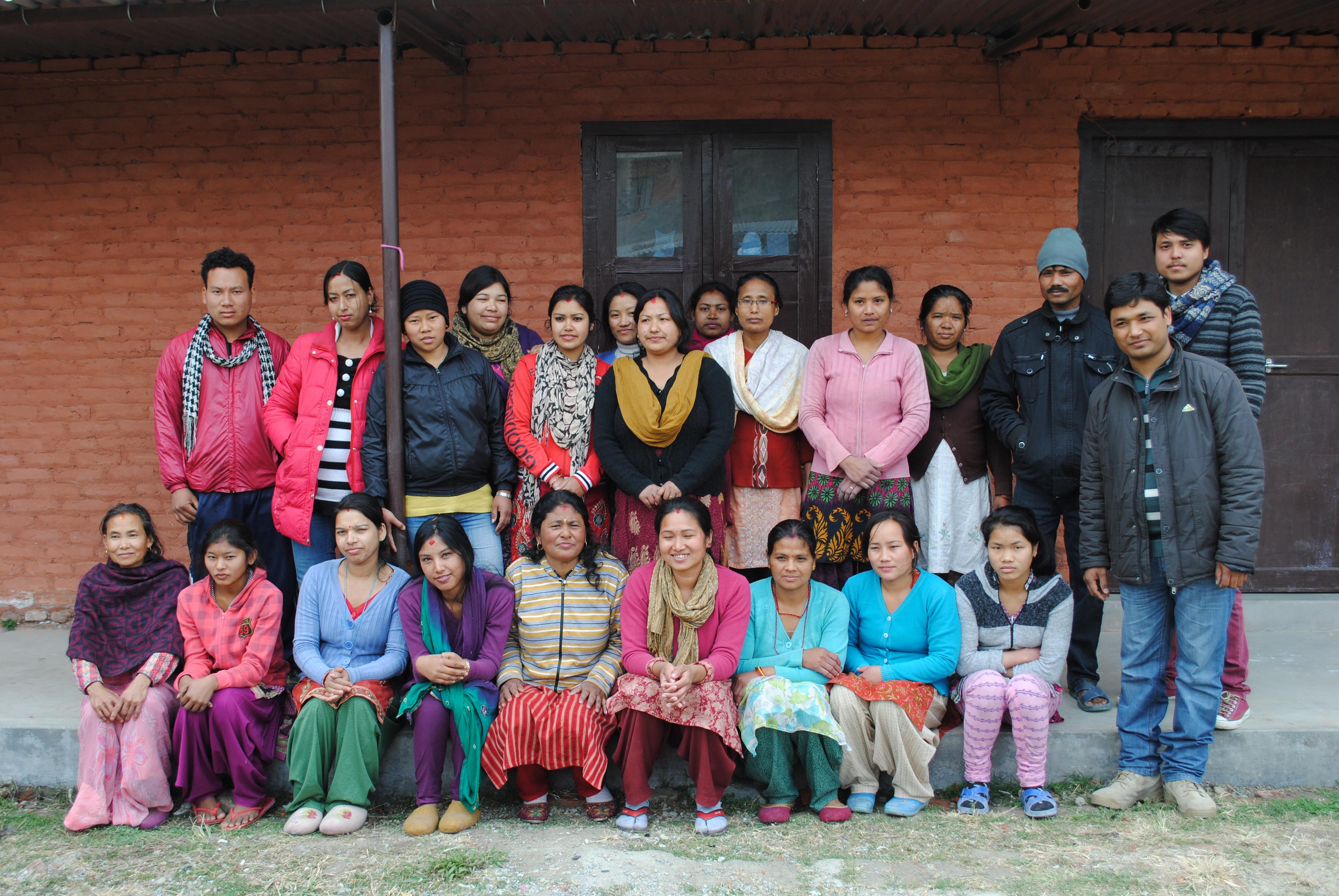 Unser nepalesisches Filzteam