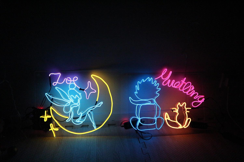 Neon on acrylic