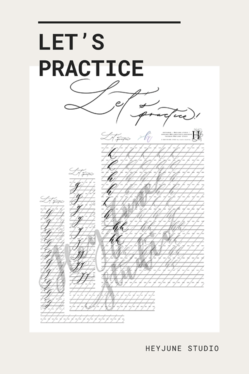 Let's Practice ! Lowercase practice notes