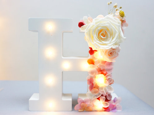 Preserved flower Letter Light