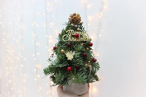Christmas Tree ( with fresh n dried flower)