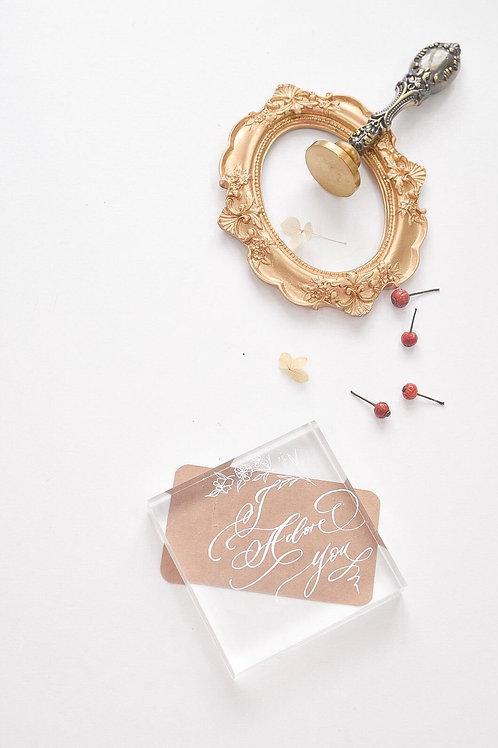 書法水晶紙鎮工作坊Calligraphy on paper-weight workshop