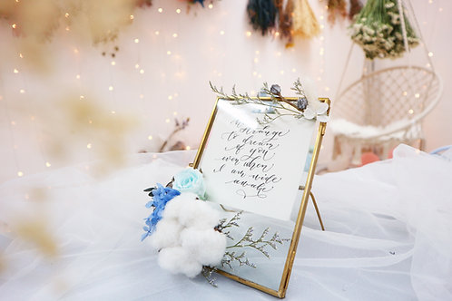 Preserved X dried flower frame