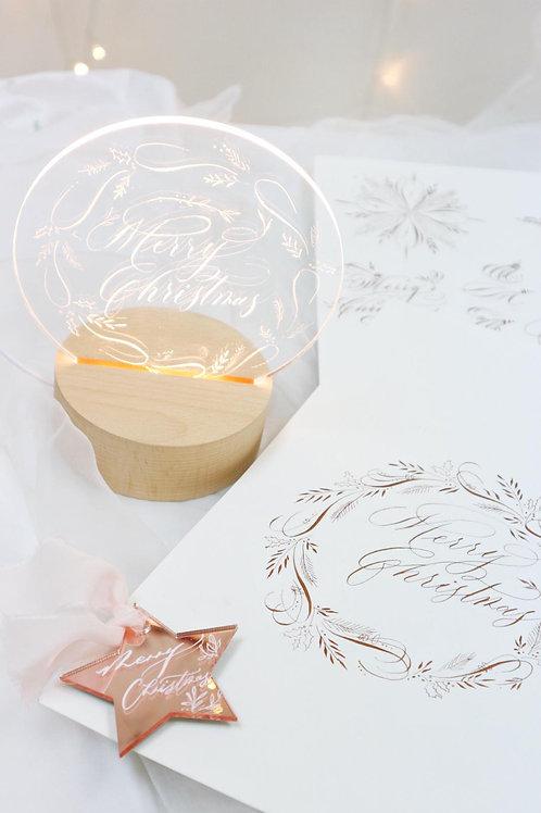 Christmas special 「Flourishing Deco in Light Board」🌟