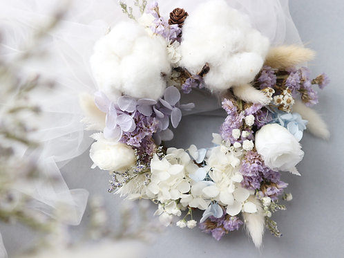 Preserved and dried flower - Wreath