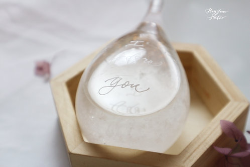 Calligraphy on Glass