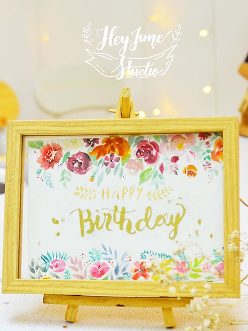 FLORAL WREATH WATERCOLOR PAINTING