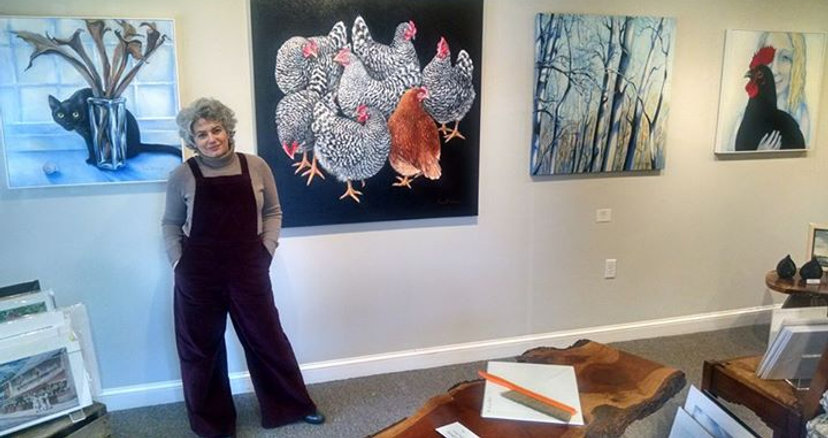 Just delivered and hung a few of my paintings at West Annapolis Art Works
