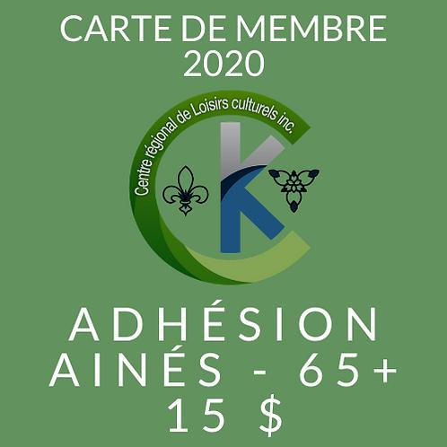 Adhésion ainés - 65+
