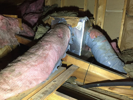bad ductwork, common home inspection problems