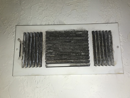 dirty vents - home inspection problems
