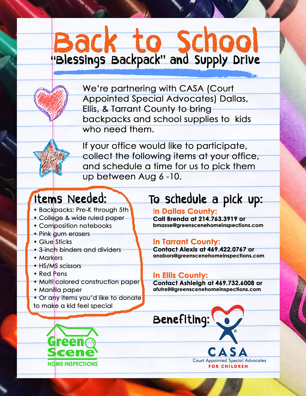 dallas back to school, dfw school supply drive