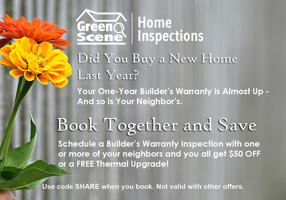 home inspection discount, builders warranty, new construction home inspection