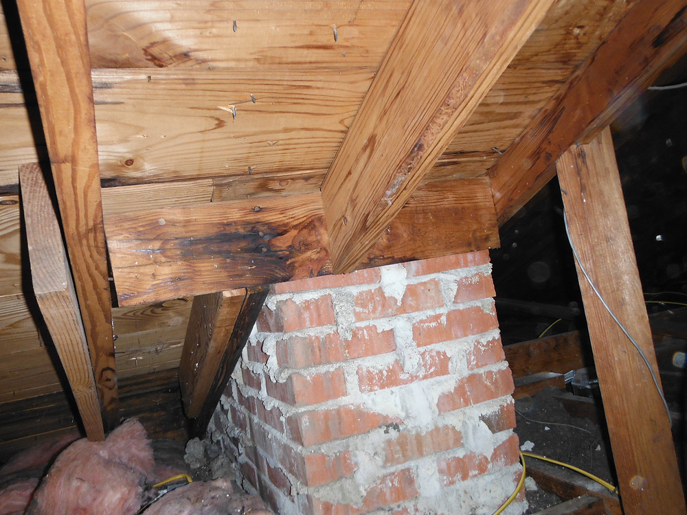 home inspection, attic problems, roof leaks
