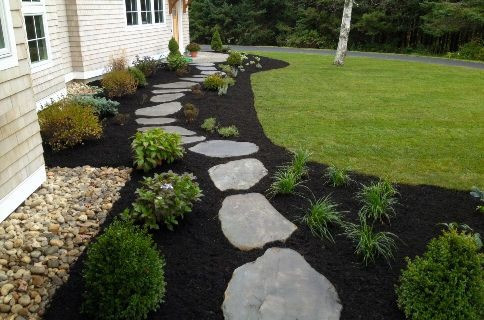 black mulch, landscaping trends