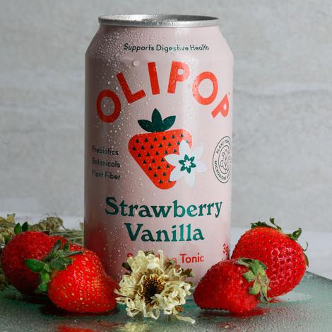olipop strawberry vanilla can soda
