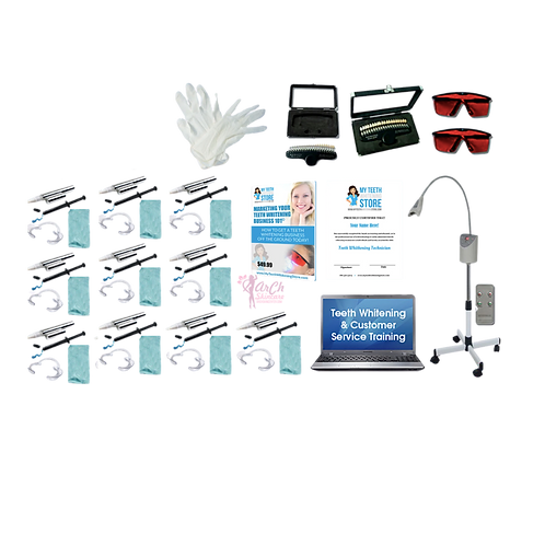 Cosmetic Teeth whitening Training with 10 kits