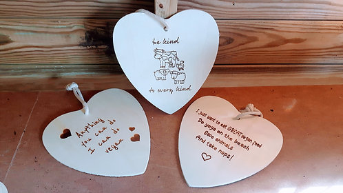 Set 2- Trio of Large Hanging Wall Plaques- Vegan