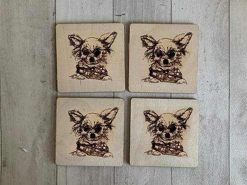 Chihuahua Coaster Set x 4