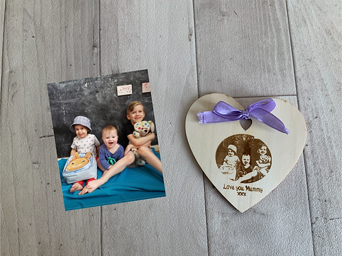 Wooden Photo Magnet Boxed Gift
