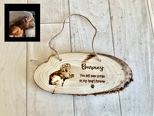 15cm Pet Memorial Photo Plaque- Personalised