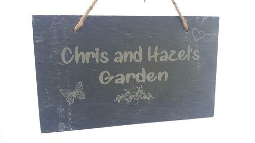 Personalised Slate Garden Sign