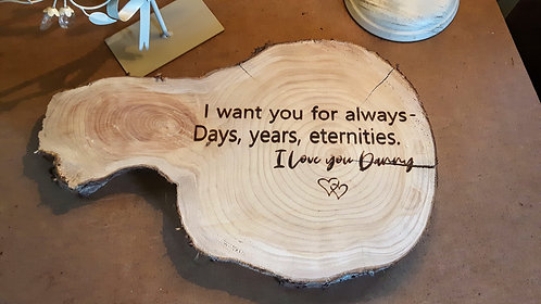 Personalised Wooden Slice Plaque