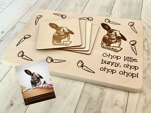Rabbit Chopping Board-Personalised Option Available