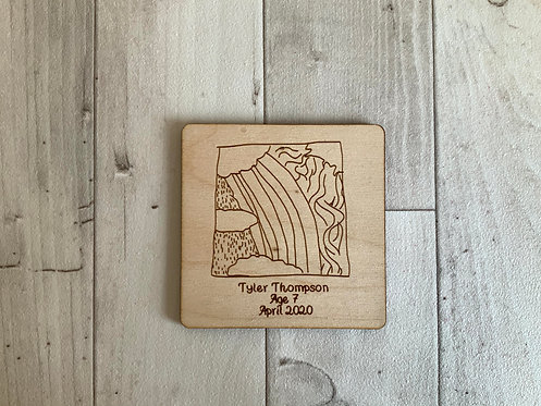 Children's Picture Deal- Wooden Magnet + Key Ring