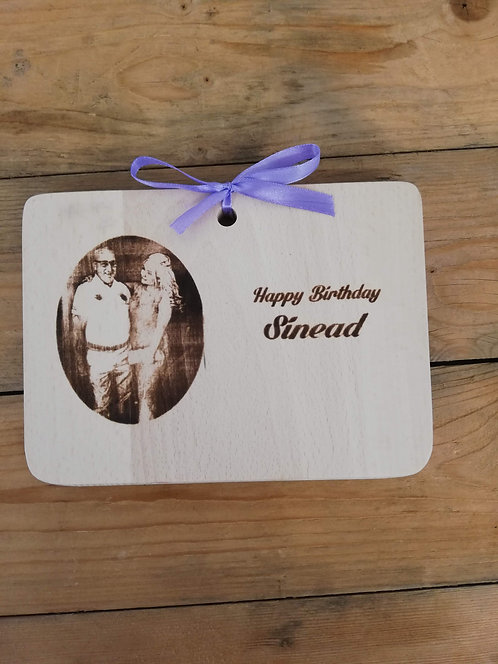15 x 20 cm Solid Wood Photo Board