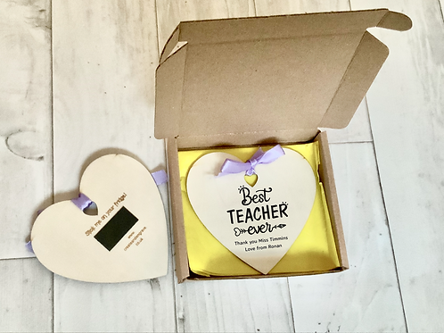 Teacher Thank you-Personalised, Boxed Large Magnetic Heart