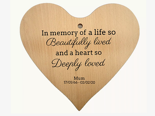Personalised memorial board