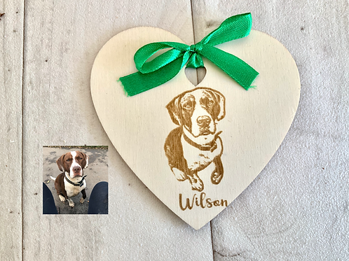 Wooden Photo Personalised Pet Magnet Boxed Gift
