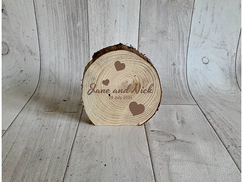 Free Standing Plaque-Rustic Circle