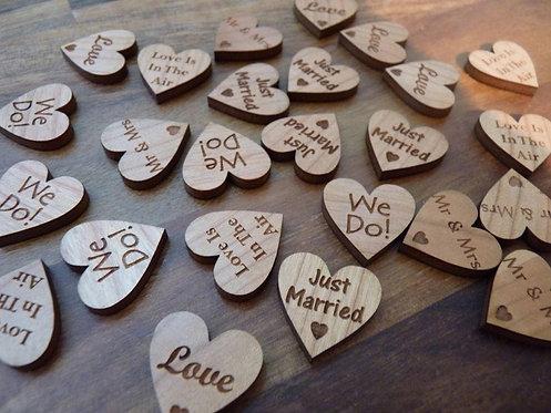Wooden Table Confetti