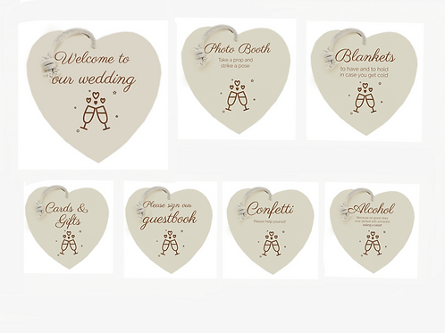 Wedding signs bundle (7 signs)